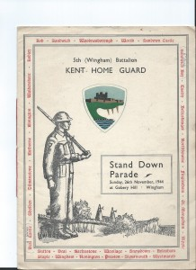Kent Home Guard Booklet [front cover]
